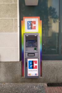 Rainbow coloured automat